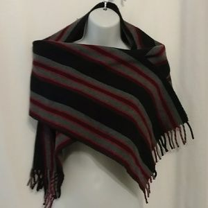 🆕 Vintage Bold Striped Lambswool Scarf Wrap